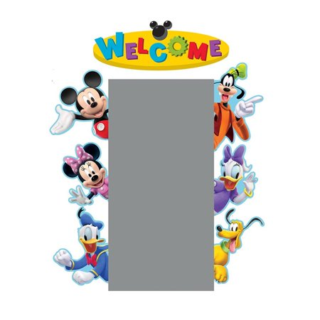 Back to School Mickey Mouse Clubhouse 'Welcome' Door and Window Go-Around Classroom Decorations for Teachers, 2pc, 17'' W x 24'' H, Includes (2) panels that.., By Eureka