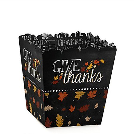 Give Thanks - Party Mini Favor Boxes - Thanksgiving Party Treat Candy Boxes - Set of 12 - Thanksgiving Rice Crispy Treats