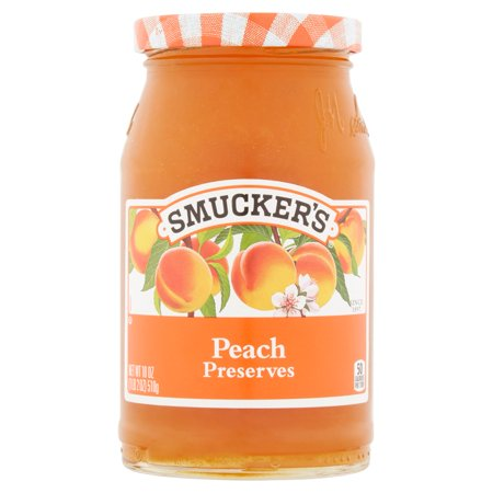 (3 Pack) Smucker's Peach Preserves, 18 oz