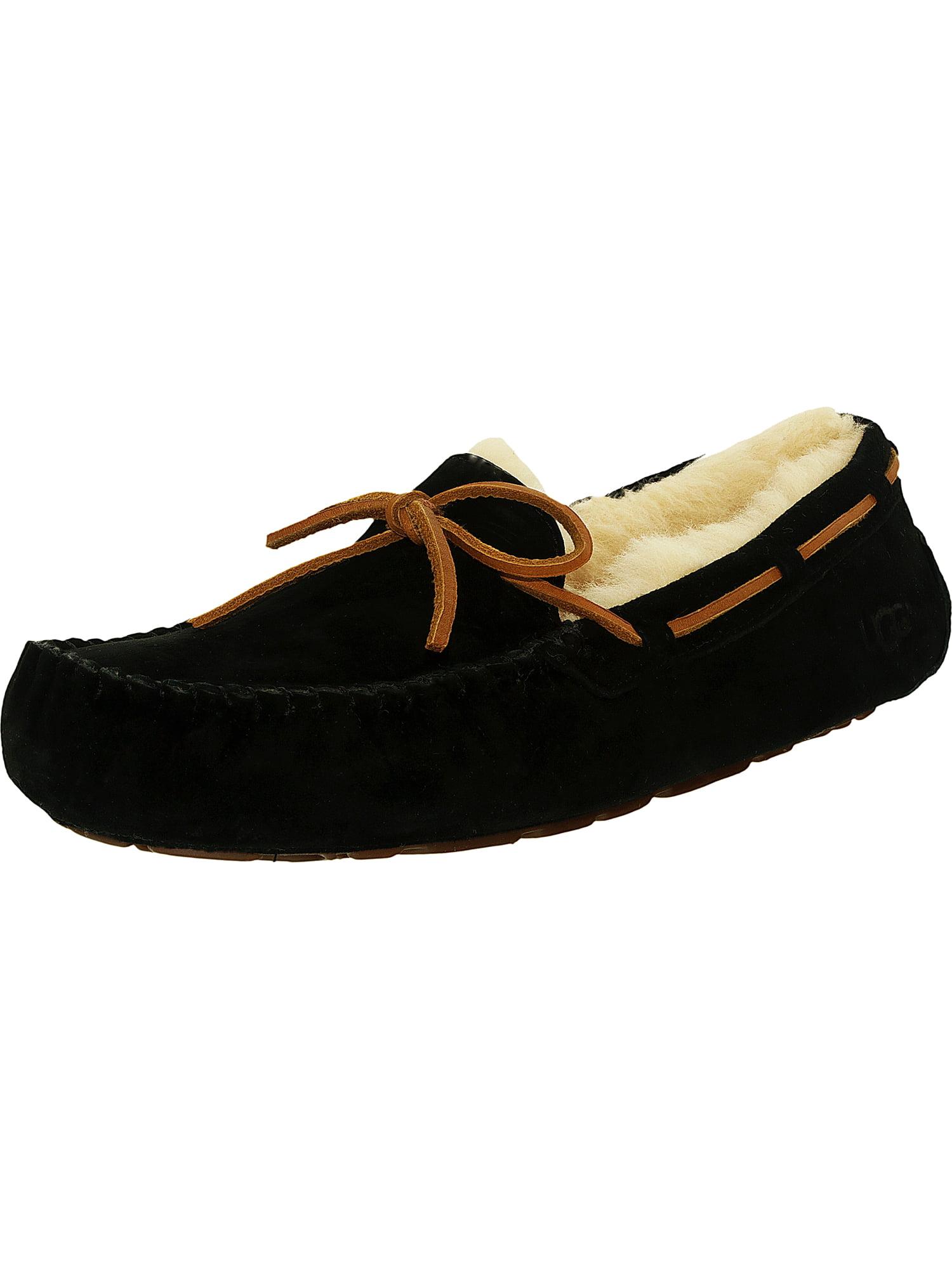 Ugg Women's Dakota Leather Black Ankle-High Suede Slipper - 5M