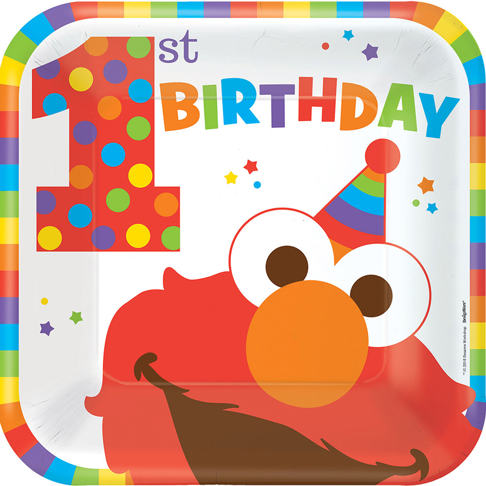 """Elmo Turns One 9"""" Luncheon Plates (8 Count) by Sesame Street"""