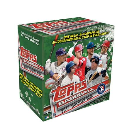 2017 Topps Holiday Mlb Baseball Exclusive Mega Box Trading Cards