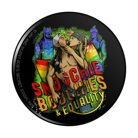 Jay and Silent Bob Smoochie Boochies and Equality Kitchen Refrigerator Locker Button Magnet