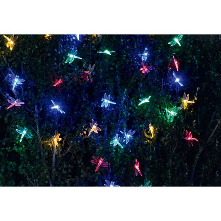 Eternal Enchanting Dragonfly Solar Garden String Lights 19 ft 40 LED