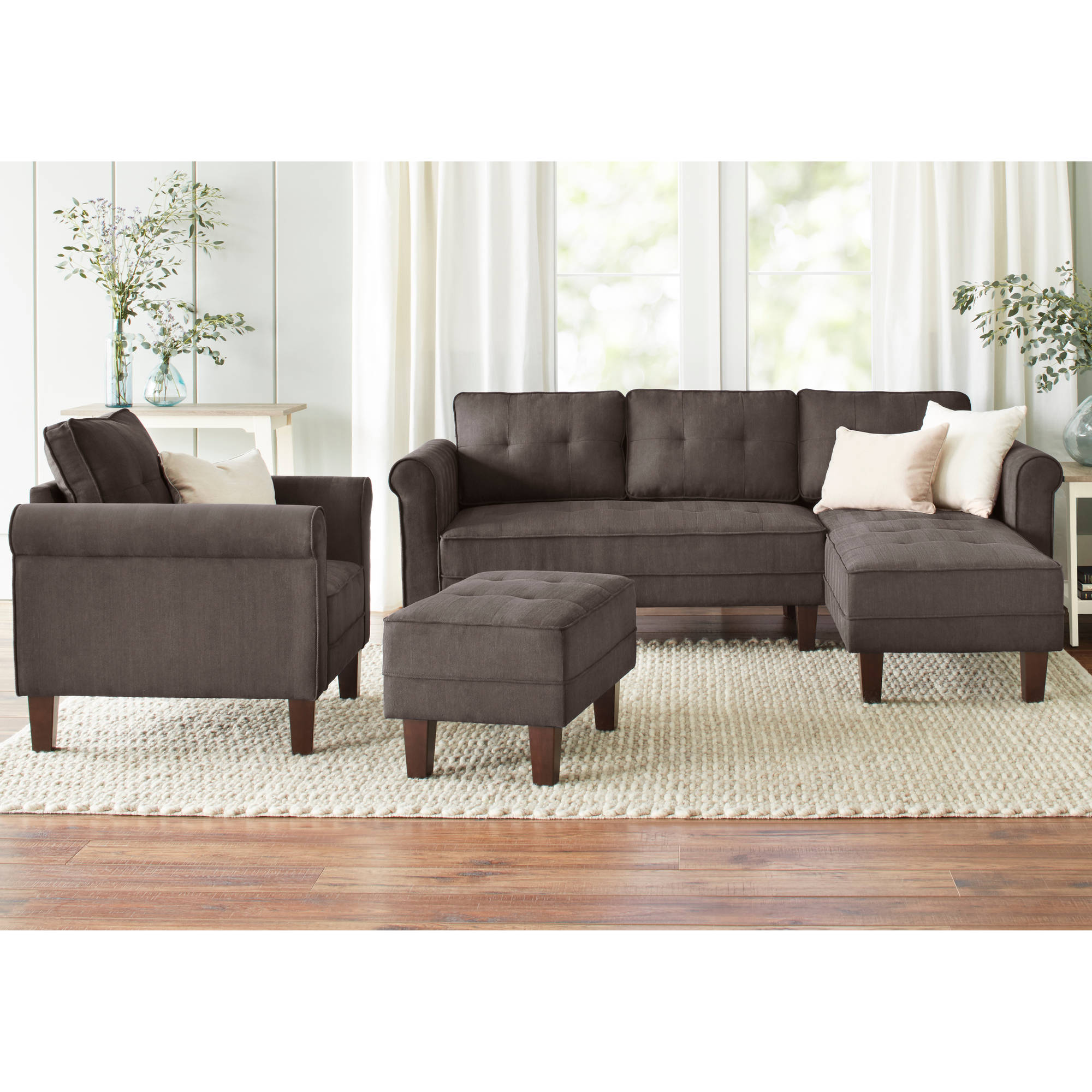 10 spring street ashton microfiber sofa bed color sand for Spring sofa bed
