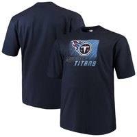 cheap for discount 1a2d5 bcb34 Product Image Men s Majestic Navy Tennessee Titans Big   Tall Reflective T- Shirt