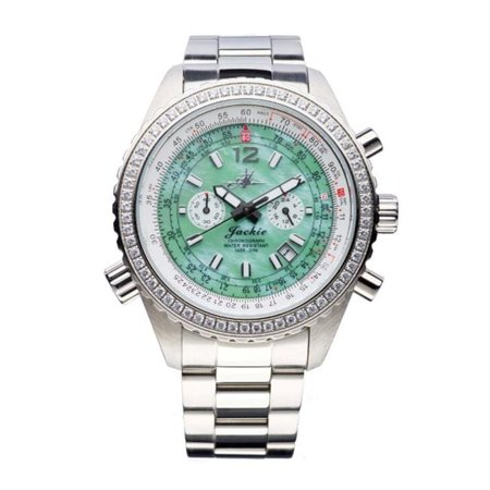 Abingdon 0610696150615 Aviatrix Collection Jackie - Seaplane Green Stainless Steel Women Watch