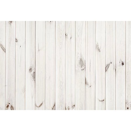 HelloDecor Polyster 5x7ft Wood Photography Backdrops White and Dark Wood Backgrounds for Birthday Party Booth Props