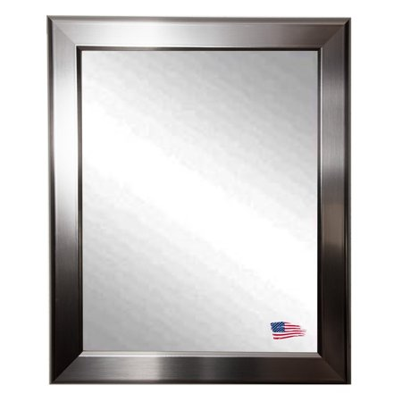 Rayne Mirrors Sleek Silver Wall Mirror (Architectural Silver Outdoor Wall)