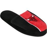 Chicago Bulls Youth Big Logo Stripe Slippers