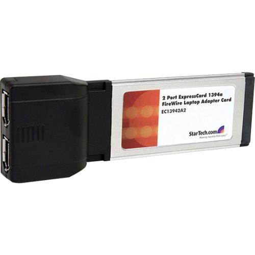 Startech 2 Port ExpressCard 1394a FireWire Laptop Adapter Card (EC13942A2)