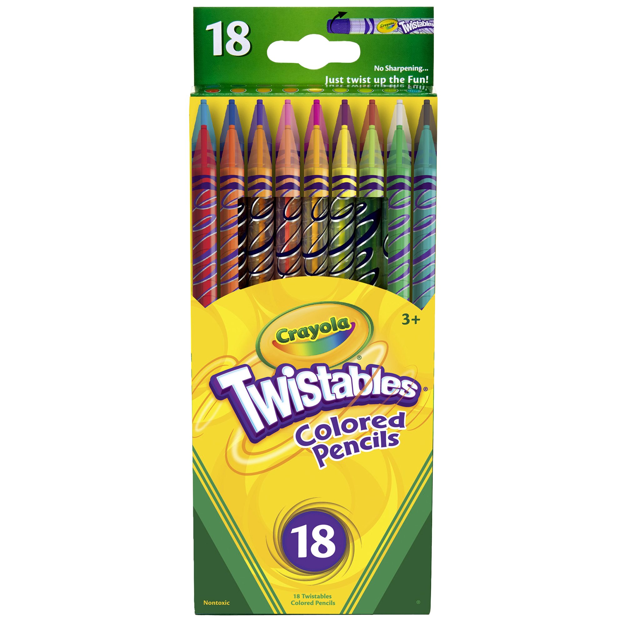 Crayola Twistables Colored Pencils, 18 Count (Packs Of 3)