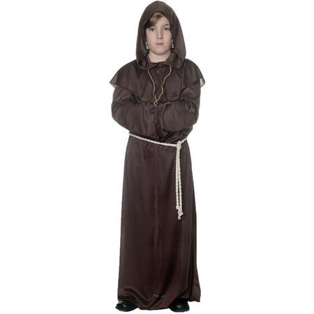 Brown Monk Robe Child Halloween Costume - Child Monk Costume