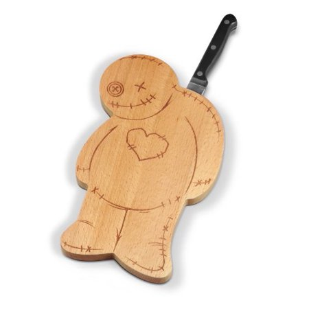 Fred OUCH! Voodoo Wood Cutting Board with Knife ()