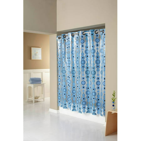 Hookless Circle Drop Peva Shower Curtain