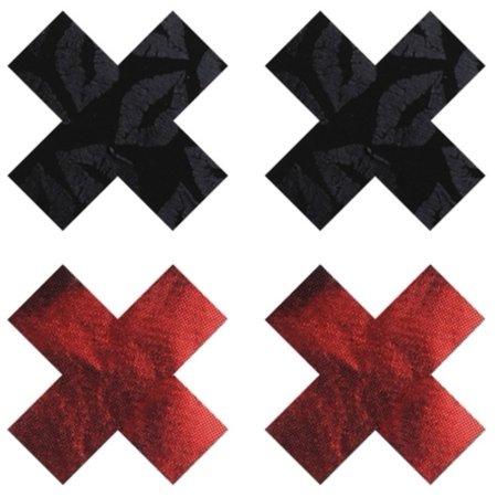 Red/Black Stolen Kisses X Pasties Baci Lingerie PK003X Red/Black Red/Black Stolen Kisses X Pasties Baci Lingerie PK003X Red/Black