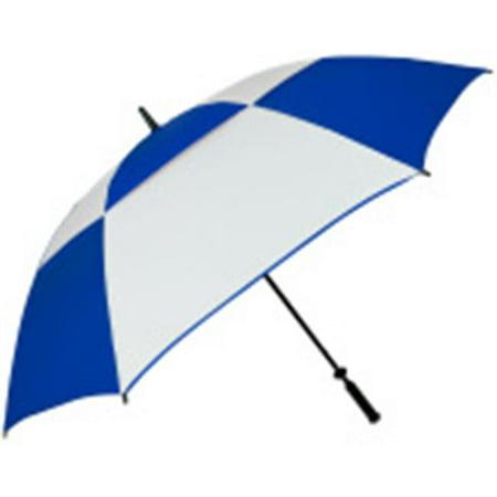 FJWestcott 8508 Double Canopy Hurricane 62 in. Manual Open Golf Umbrella - Royal and White