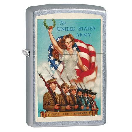 Zippo Lighter: Military Poster, Unites States Army - Street Chrome (Armor Zippo Lighter)