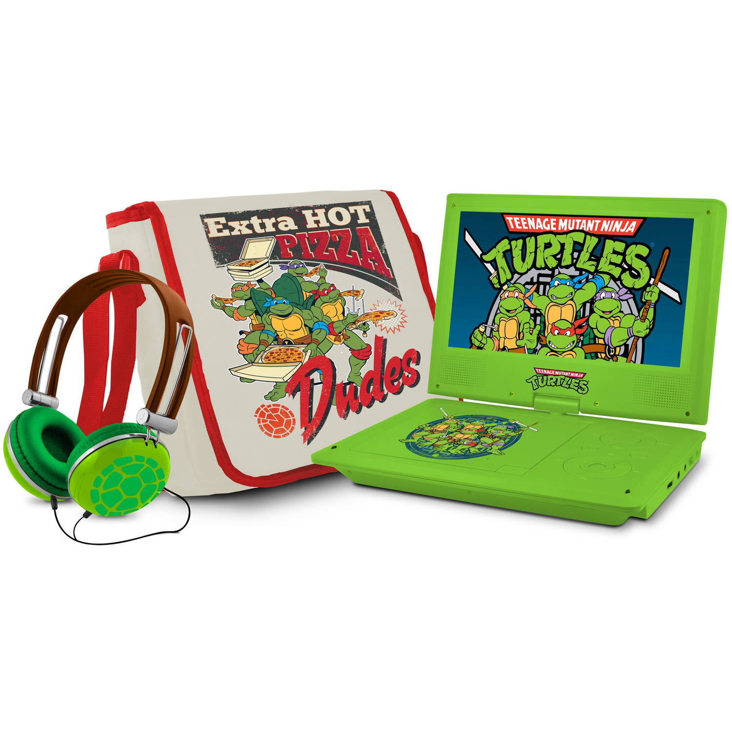 "Teenage Mutant Ninja Turtles 7"" Portable DVD Player with Carrying Bag and Headphones"