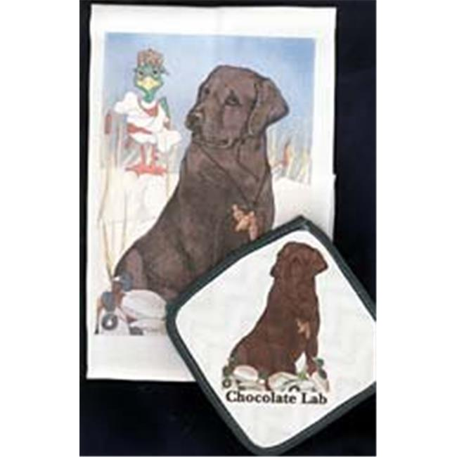 Pipsqueak Productions DP923 Chocolate Lab Dish Towel And Potholder