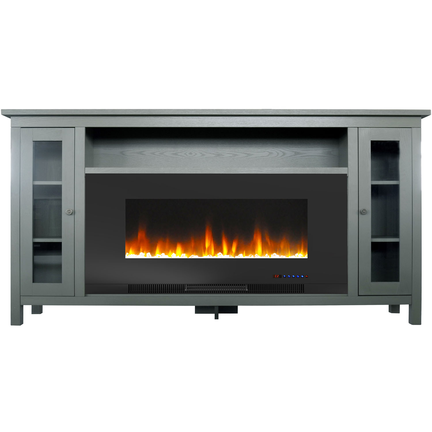 Cambridge Somerset 70 In Gray Electric Fireplace Tv Stand With