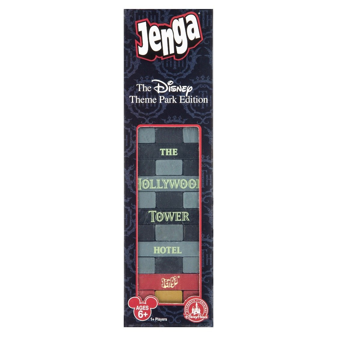 Disney Theme Park Edition Hollywood Tower Hotel Jenga Game New with Box by