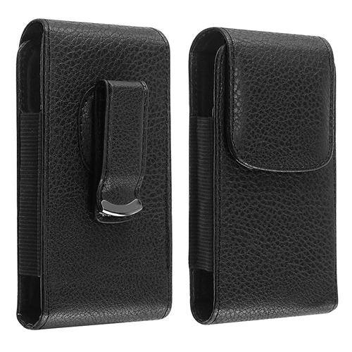 Insten Universal Vertical Leather Case w/ Magnetic Flap for LG Optimus Zone 2 / Nokia Lumia 710 / Samsung Galaxy Centura