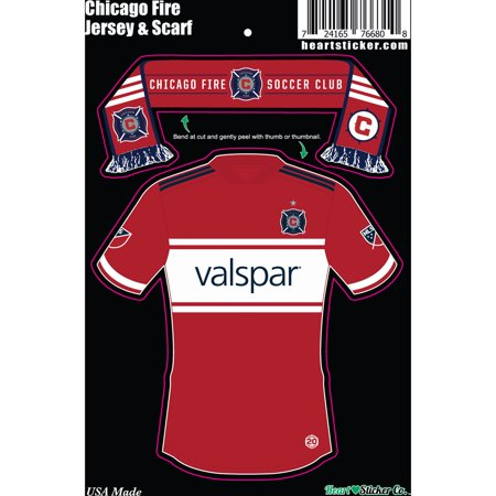 super popular 1e0b9 aa5cc Chicago Fire Scarf And Jersey Sticker - No Size