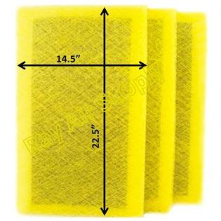 MicroPower Guard Air Cleaner Replacement Filter Pads 16x25 Refills (3 Pack) ()