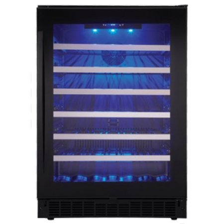 """Danby SSWC056D1 24"""" Wide 48 Bottle Capacity Free Standing Wine Cooler with LED Lighting from the Silhouette Series"""