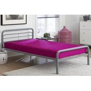Value 6 Inch Polyester Filled Quilted Top Bunk Bed Mattress, Twin, Pink