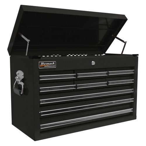 Homak 27 Inch Professional 9 Drawer Top Chest
