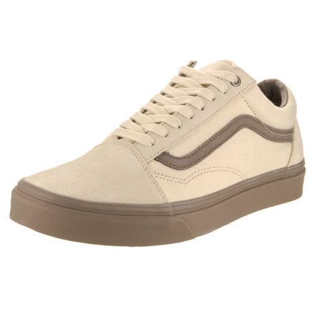 Vans Old Skool C&D Cream/Walnut Men's Classic Skate Shoes Size 8.5 (Vans Cream Shoes)
