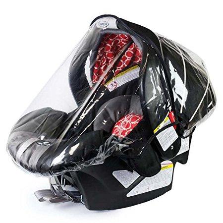 Rainbow Design Infant Carrier Car Seat Rain & Weather Plastic Shield Cover ()