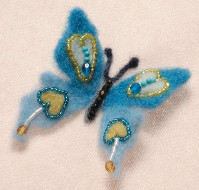 Clover Felting Needle Applique Mold, Butterfly
