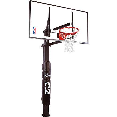 "Spalding 88880G 72"" Glass In-Ground Basketball System"