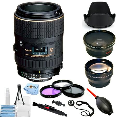 Tokina 100mm f/2.8 AT-X M100 AF Pro D Macro Autofocus Lens for Nikon PRO