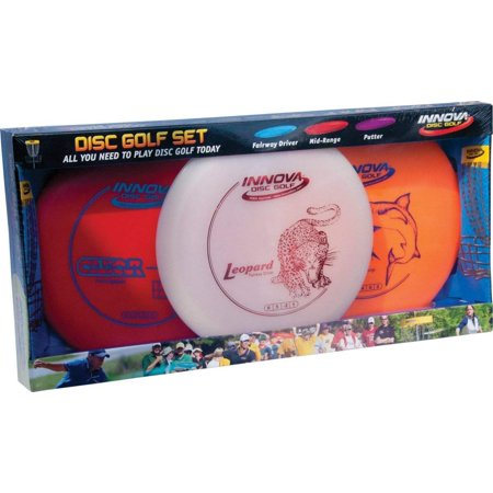 DX Disc Golf Set (3-Disc) (Colors may vary), Includes a Driver, Mid-Range and Putter By Innova