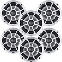 "Wet Sounds Bundle: Three pairs of XS 650 Series Silver Grill 6.5"" Speakers. 100 Watts RMS Each"