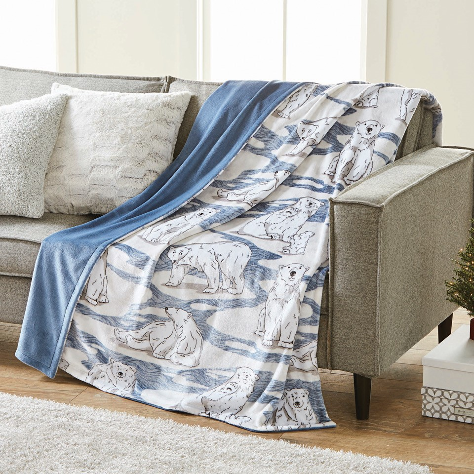 Better Homes and Gardens Oversize Reversible Velvet Plush Throw Blanket by ZHANGJIAGANG SUNRISE TEXTILE CO LTD
