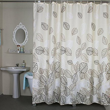 Welwo Water Repellent Waterproof Fabric Shower Curtain Liner Set