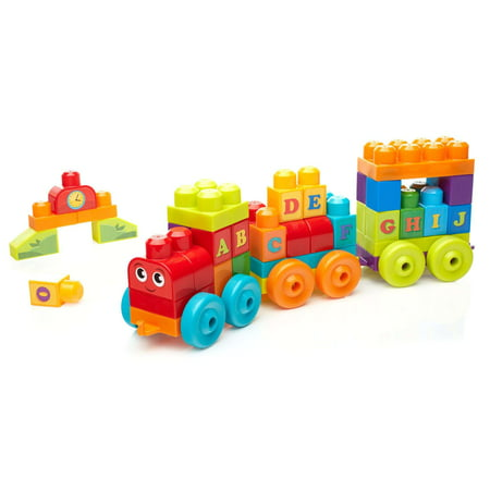 Mega Bloks Building Basics A-B-C Learning Train with Music & Sounds