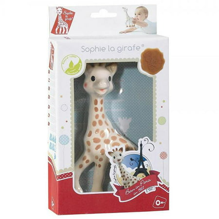 Vulli Sophie The Giraffe Teether, Brown/White Sophie Giraffe Baby Toy