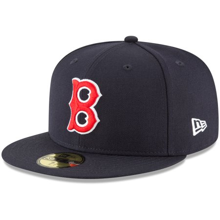 Boston Red Sox New Era Cooperstown Collection Wool 59FIFTY Fitted Hat - Navy