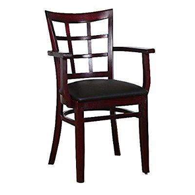 Beechwood Mountain BSD-17A-DM Solid Beech Wood Armchair in Dark Mahogany for Kitchen and dining by