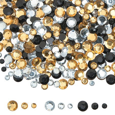Fun Express - Blk Gold And Silver Acrylic Gems - Craft Supplies - Bulk Craft Accessories - Jewels - 1 Piece Blk Gold And Silver Acrylic Gems - Craft Supplies - Bulk Craft Accessories - Jewels - 1 Piece
