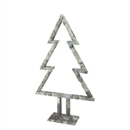 """Image of 22"""" Country Cabin White Birch Tree Silhouette Christmas Table Top Decoration"""
