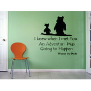 Winnie The Pooh Piglet Quote Cartoon Characters Silhouette Baby Nursery Room Boy Girl Custom Wall Decal Vinyl Sticker Art Decor 12 Inches X 12 Inches