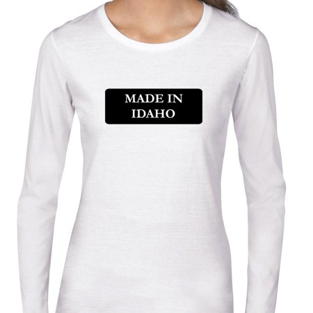Hip Made In Idaho State Pride Womens Long Sleeve T Shirt