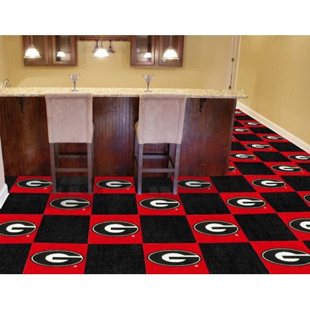 Fanmats College Ncaa University Of Georgia 18 Inch X18 Inch 9 Ounce 100   Nylon Face Team Carpet Tiles